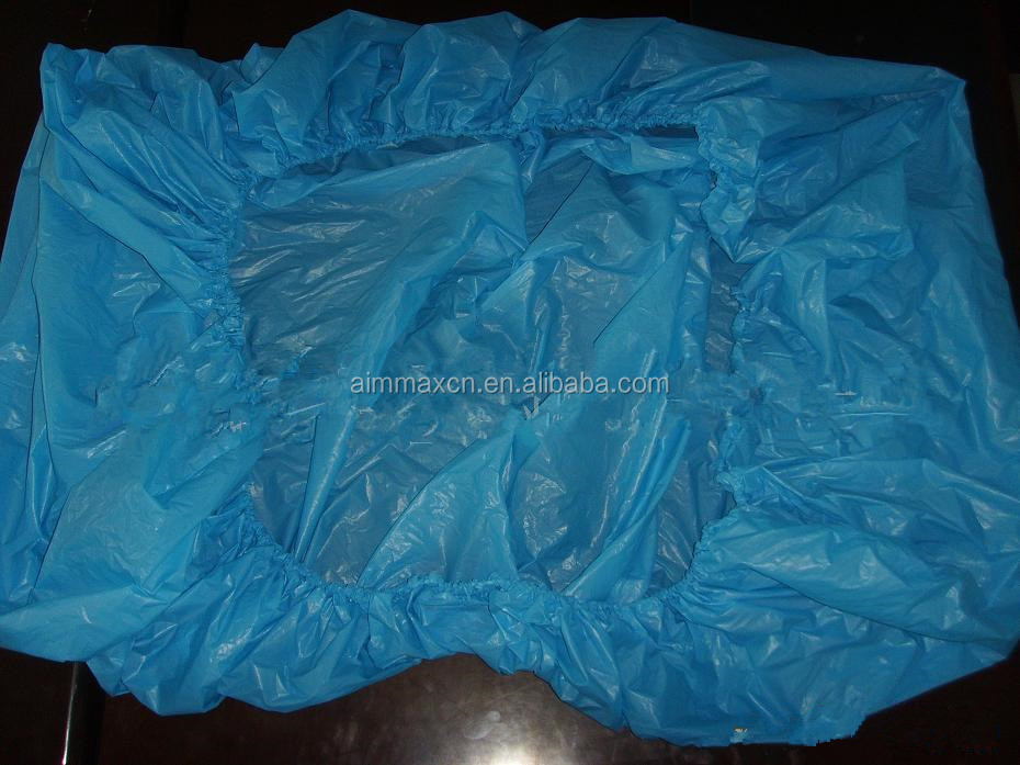 Disposable plastic mattress cover cpe bed cover