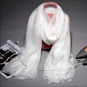 2017 Europe best quality 100% white silk scarves and shawls for dyeing