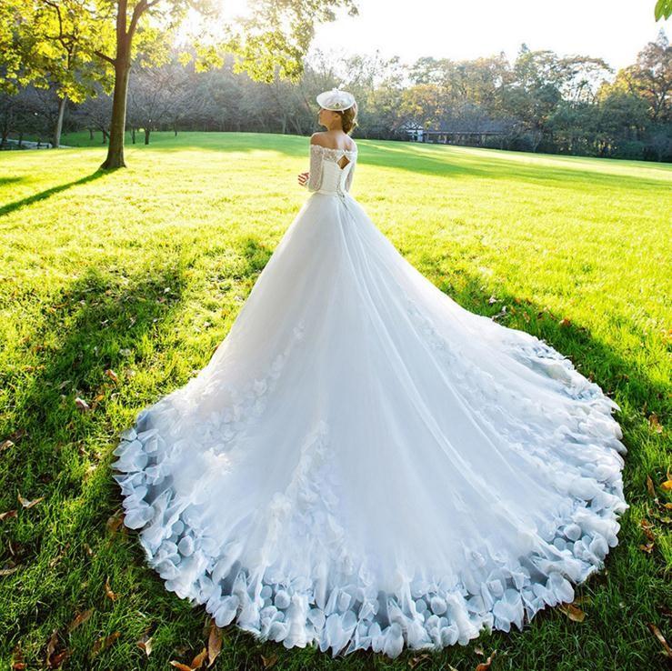 nuevo estilo europeo de moda v cuello de hombro encaje vestido de