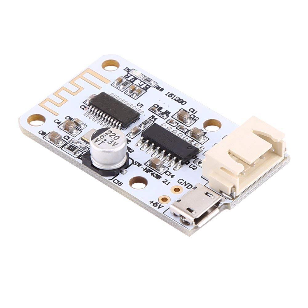 Power Amplifier Board, Asixx Powered Amplifier Board Mini Digital Amplifier Board USB Power Supply 3W+3W Bluetooth Audio Receiver for Speaker