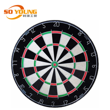 18 inch portable sisal Bristle fiber Dart board with Customized