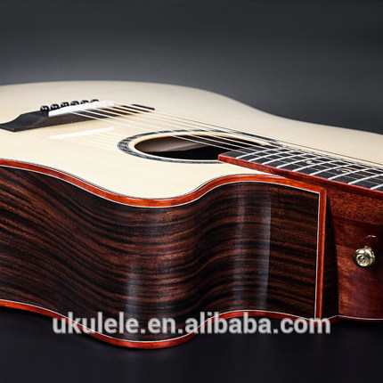 Glossy 41inch 41'' solid top acoustic guitar semi-acoustic guitar with EQ with rosewood fingerboard rosewood bridge фото