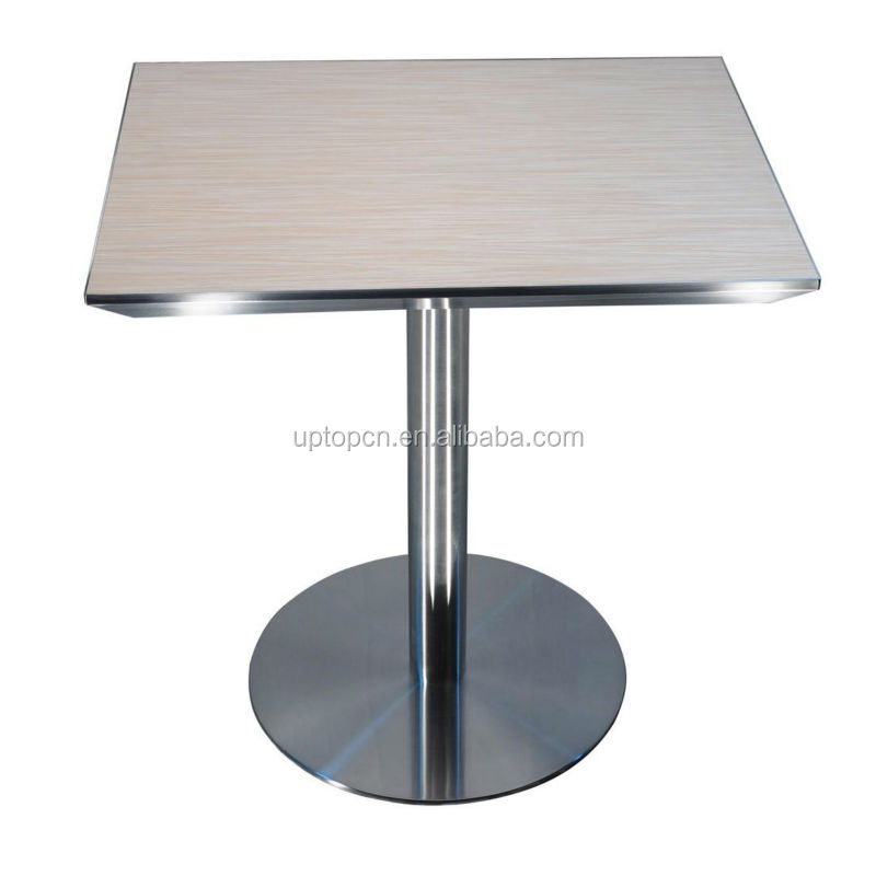 In acciaio inox con laminato tavolo quadrato usato ristorante tavoli da pranzo sp rt191 tavolo - Tavolo in acciaio inox usato ...