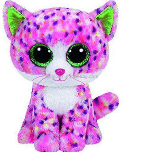 factory price 15cm stuffed plush spot cat keychain hanging pendant