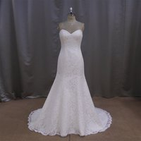 2015 Delicate wedding dress with Appliqued lace Ball gown back with lace up weeding dress