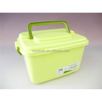 Plastic Cd Storage Organizer Plastic Storage Box With Handle 13L