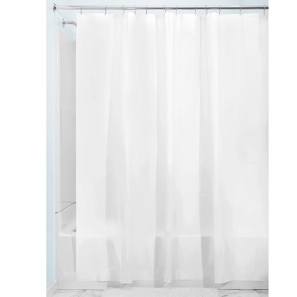 Plain White Polyester Printing Hookless Shower Curtain