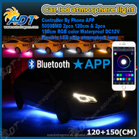 LED Glow White SMD LED Slimline Underbody Underglow Car Light Kit with App control