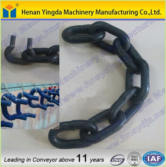 2017 High tensile strength round link chain for bucket elevator