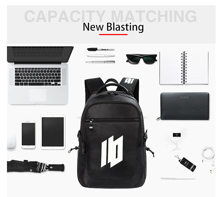 Osgoodway Hot Sell BSCI Factory Custom Logo Computer Travel Business Laptop Backpack with Earphone Hole