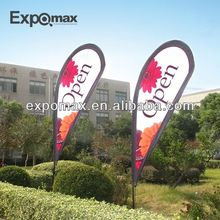 Advertising outdoor teardrop banner / bow flag