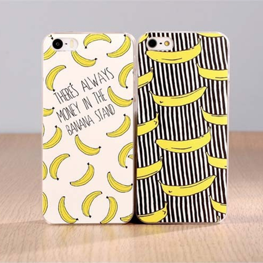 Fruit Banana Fashion Hard Plastic Case Cover For Apple iPhone 4 4S 5 5S SE 5C