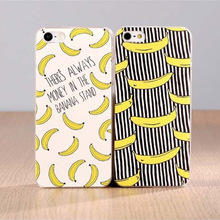 Fruit Banana Fashion Hard Plastic Case Cover For Apple iPhone 4 4S 5 5S 5C 6 6 Plus