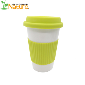 450ml Reusable Practical Ecological PLA Coffee Mug With Lid and Sleeve