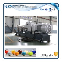 Plastic granulator pelletizer extrusion twin screw pellet exruder