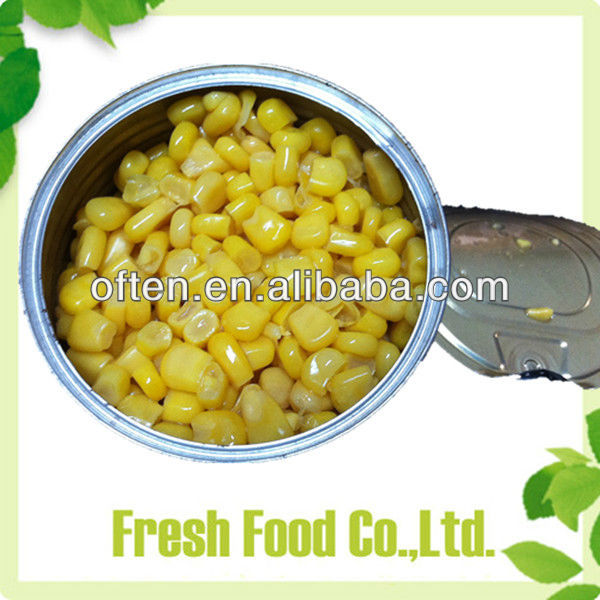 Newly crop canned corn nutrition Tinned Sweetcorn