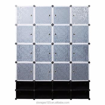Delicieux Large Capacity Diy Plastic Storage Cube With White Subtransparent Door    Buy Plastic Organizer With Door,Folding Storage Cube,Plastic Stackable ...