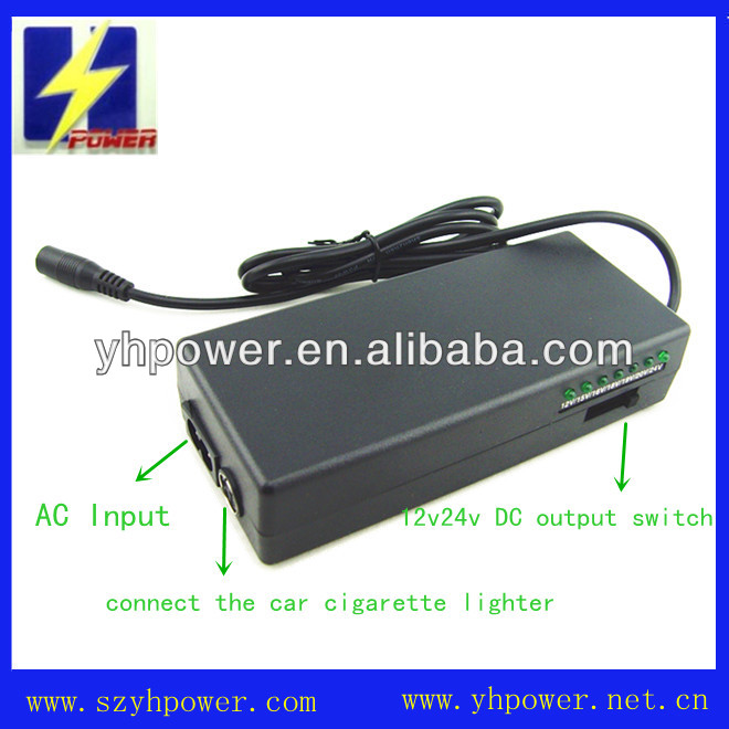 universal car laptop charger 100w 19v