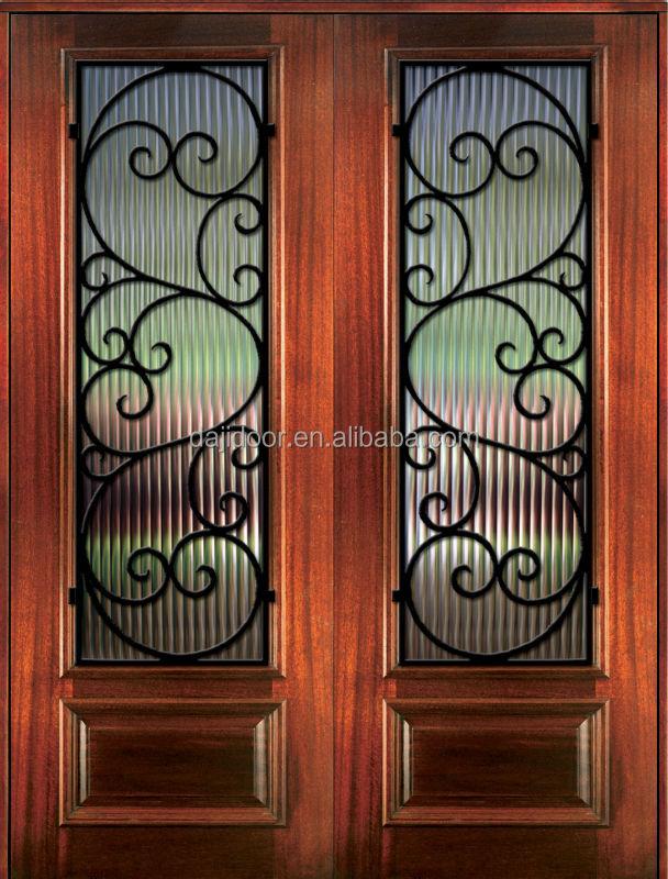 turqua estilo madera puertas de hierro djsmw