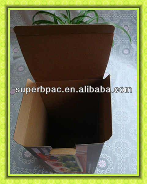 fresh fruit corrugated box packaging with double plugs on both sides