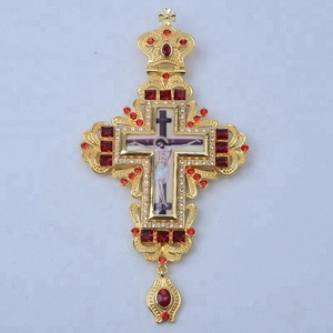 Hot Selling Russia Orthodox Large Pectoral Cross In Gold