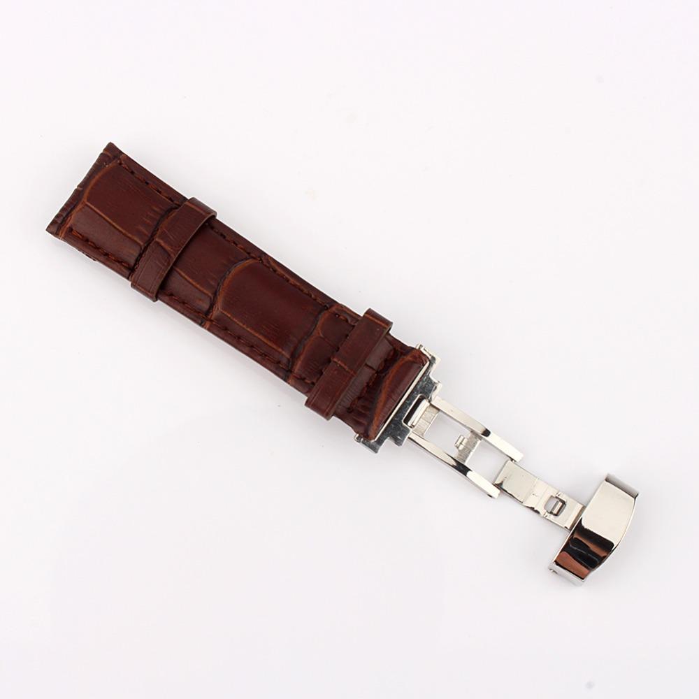 18 мм / 20 мм / 22 мм прочный кожаный ремешки Deployant ремешка пряжка часы