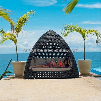 sigma outdoor wicker nest style bed garden patio sleeping pod bed for sale - Garden Furniture Pod