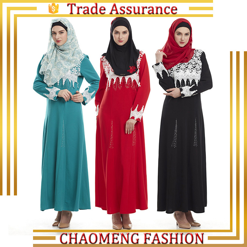 Fall Modest Dress Kebaya Kurung Islamic Clothing For Muslim Women Long Dress