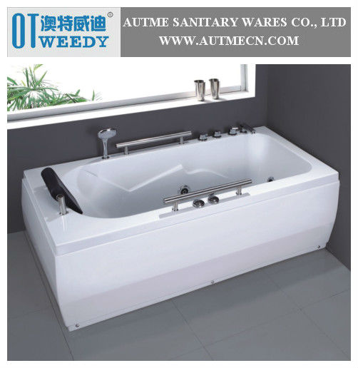 Small Cheap Freestanding Whirlpool Massage Square Bathtub with Massage Jets AB-022