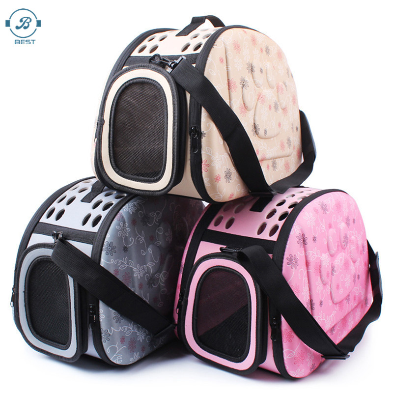 2020 Amazon Hot selling Pet Dog Soft Sided Travel Carrier Tote Bag, Outdoor Foldable Pet Sling Bag