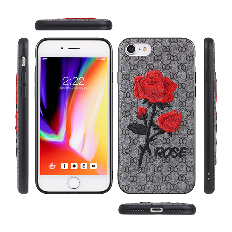3D Vintage Embroidery Flower Phone Case for Samsung Galaxy S8 /S8 Plus /S7/ note 5 case