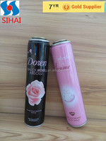 Guangzhou supplier New-Hot sale CMYK printing empty aerosol tin can for party spray foam