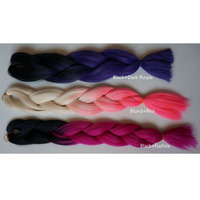 Factory Supply Pre Braided Two Colored Wholesale Cheap Synthetic Braiding Hair