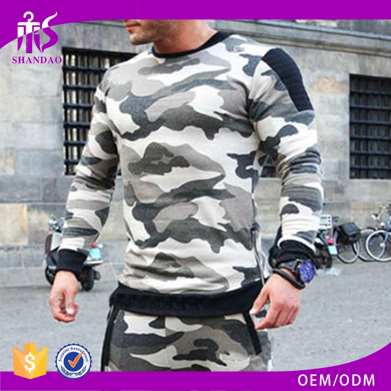 Guangzhou Shandao High Quality Long Sleeve Camo Side Zips Men's view from sportswear