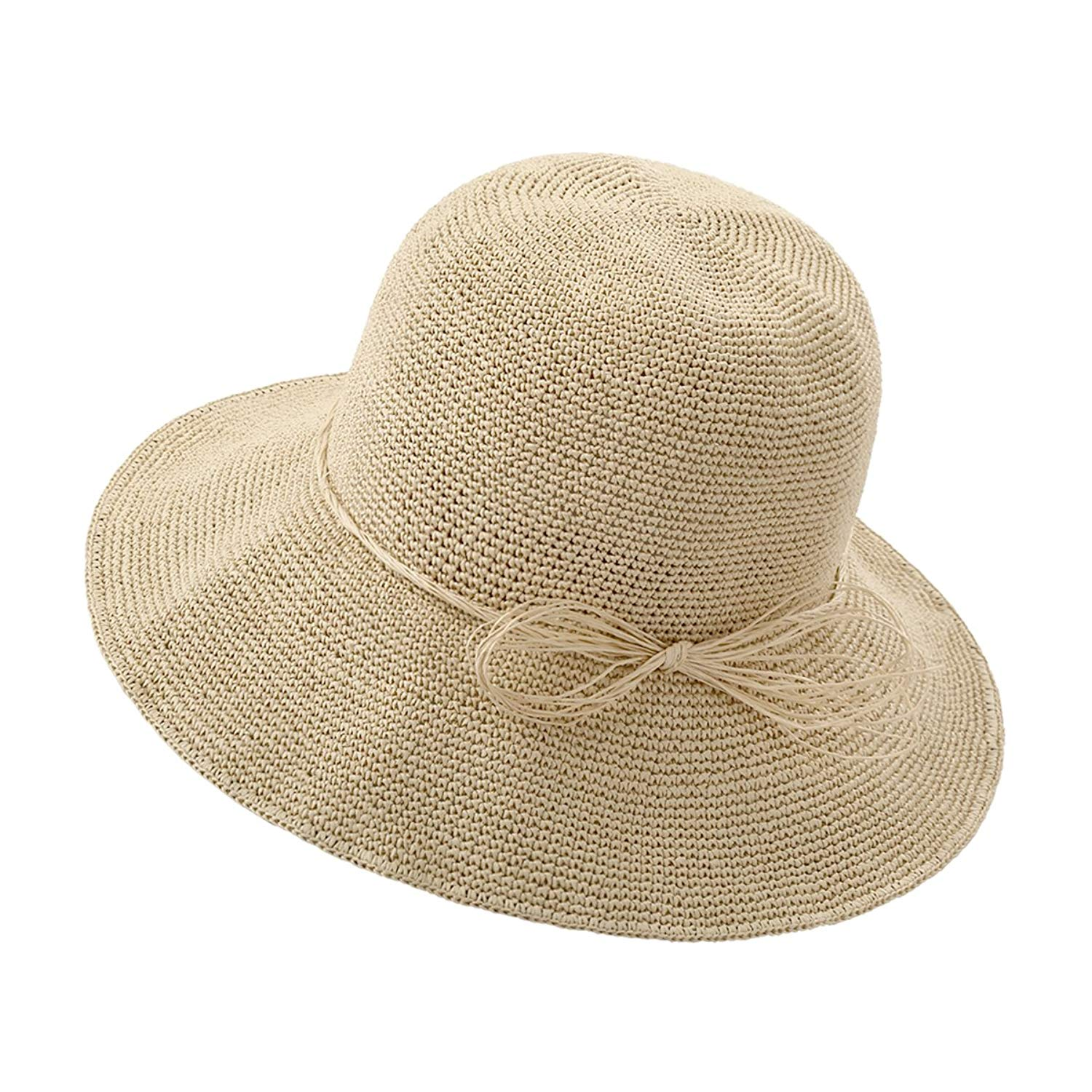 ead6fae8a9c Get Quotations · Erhverv Handmade Paper Straw Hat Packable Sun Hat Beach Hat  For Woman and Girls