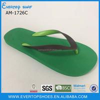 fashion custom rainbow two-tone strap flip flops
