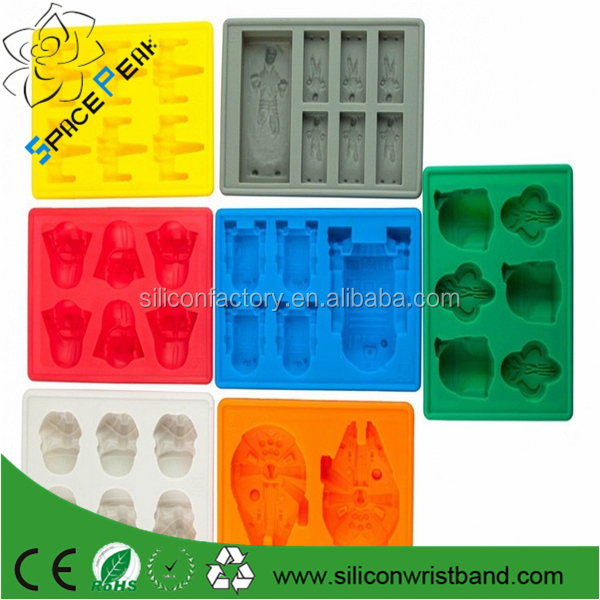 Wholesale stocks FDA food grade bpa free wars lego star cartoon characters ice candy mold silicone
