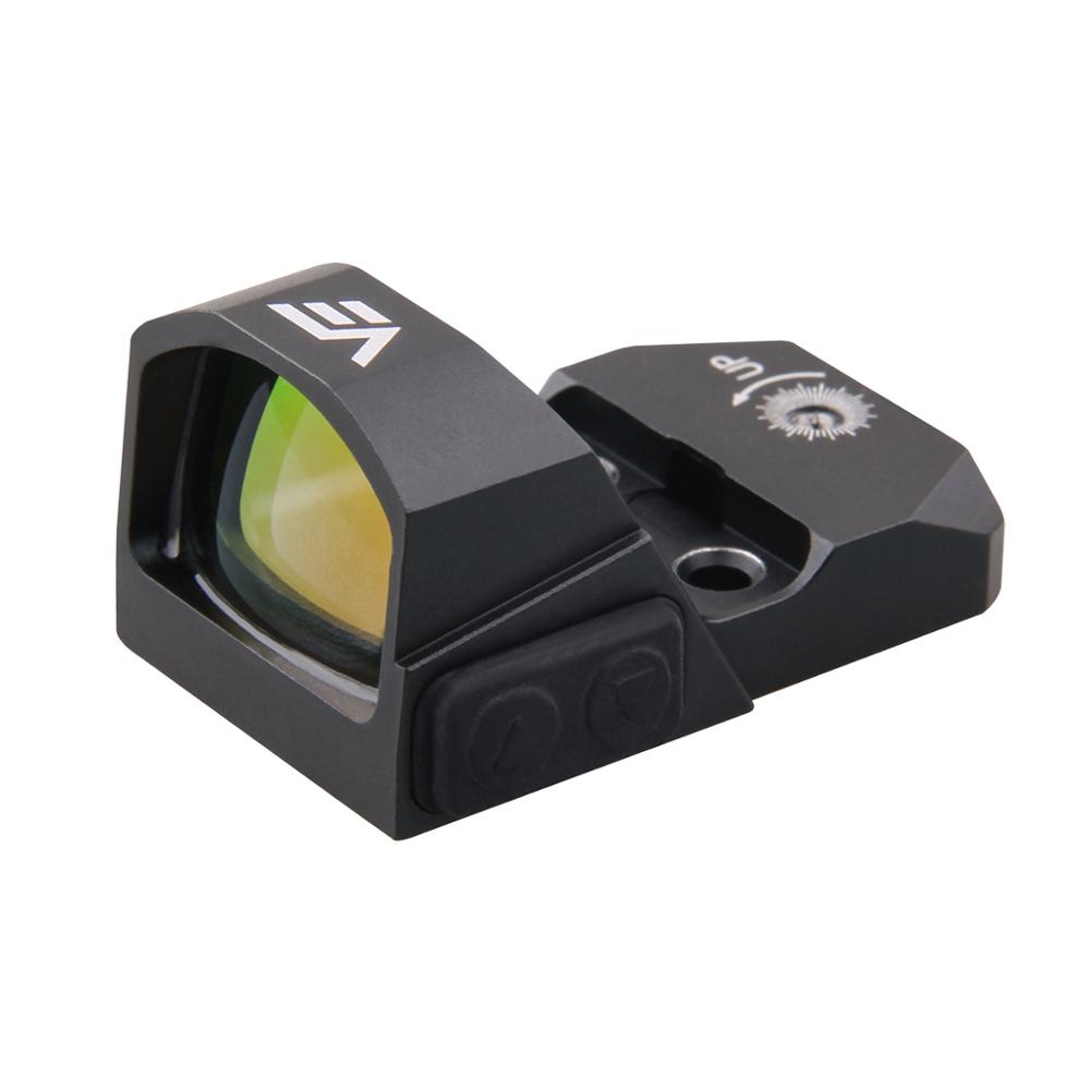 20000 Hours Battery Runtime 1x17x24 IPX6 Micro Pistol Red Dot Sight Scope w/ Switch Control 0.45CAP