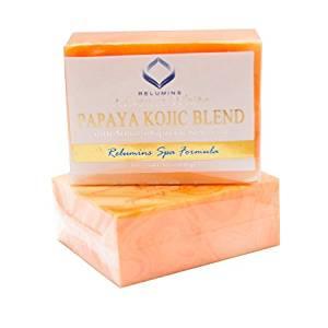 Relumins Triple Papaya Kojic Whitening Bar-professional Spa Formula Effective for Melasma & Acne Scars