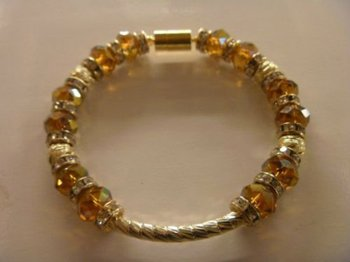 77448de5d841 Pulsera De Oro Laminado 14k Y Cristal Checo - Buy Pulsera Product on ...