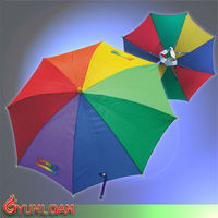 fashion style hat umbrella head handle