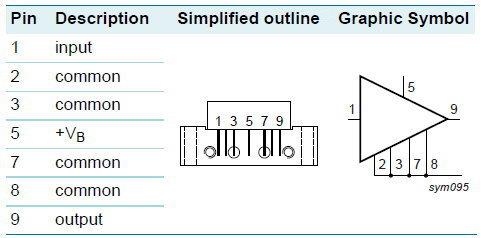 BGY835C NXP 860MHz 34.5dB Gain Push-Pull RF Module CATV Amplifier