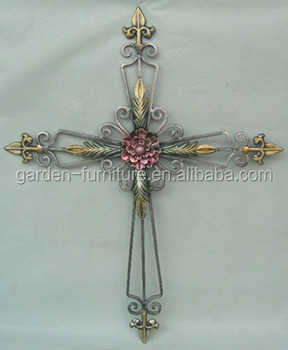 Wrought Iron Crafts Wall Hanging Decor Western Church Christian