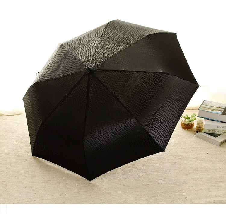 Imitation Crocodile Skin Umbrella Men Rain Women Three Folding Windproof  Fully Automatic Gentle High Quality Umbrellas - us37 fc8fc96fdf