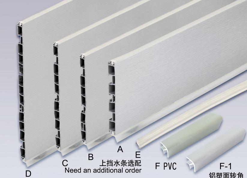 100mm 150mm Pvc Skirting Board Aluminum Foil Skirting