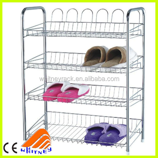 Ce Certificate Metal Shoe Rack Designs Adjustable Wire Storage Racks  Shelves Bedroom Wall Shelves   Buy Metal Shoe Rack Designs,Adjustable Wire  Storage ...