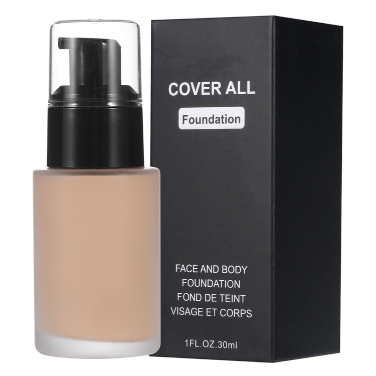 2019 Wholesale  9Colors !!Private Label High Cover Liquid Natural Waterproof Longlasting Liquid  Foundation