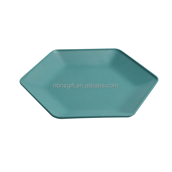 bulk china plates dinner cheap wholesale different shape bamboo fiber plate