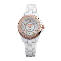 White/Black Band High Quality Luxury Watches For Ladies