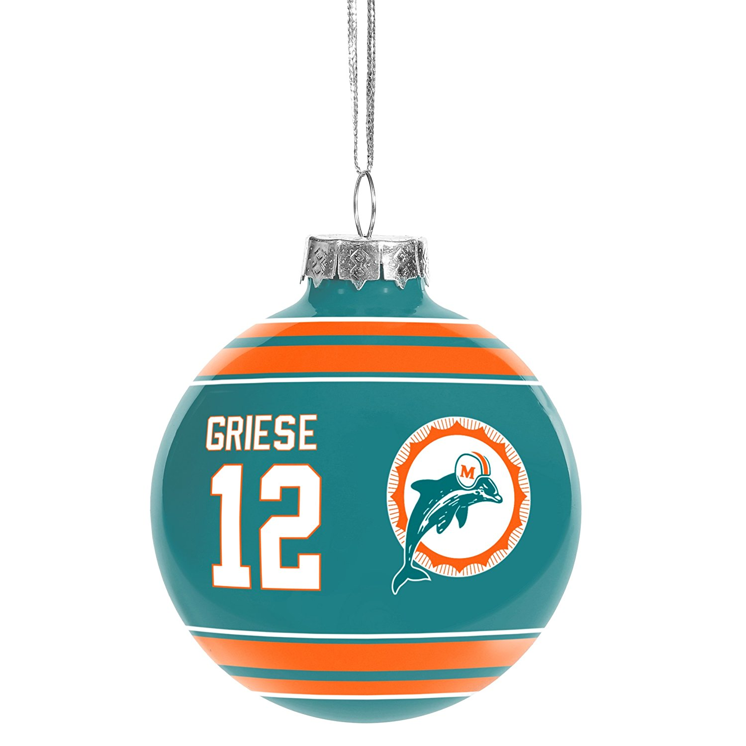 Buy Miami Dolphins Official NFL Holiday Christmas Ornament Logo by ...